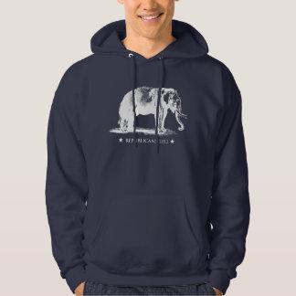 Vintage GOP Elephant Republican Hooded Sweatshirt