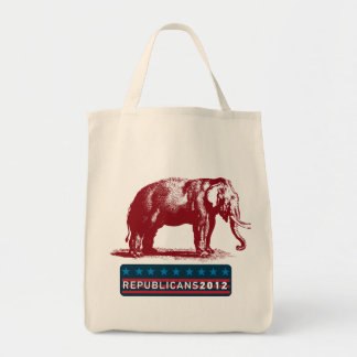 Vintage GOP Elephant Republican Tote Bag