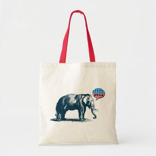 Vintage GOP Republicans 2012 Election Tote Bag