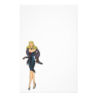 Vintage Gorgeous Glamor Girl Retro Blonde Pinup Custom Stationery