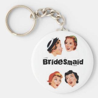 Vintage Gossip Bridesmaid Keychain