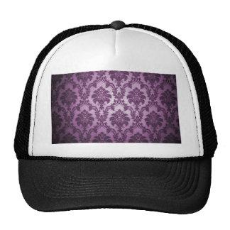 Vintage gothic amethyst damask chic trendy elegant trucker hats