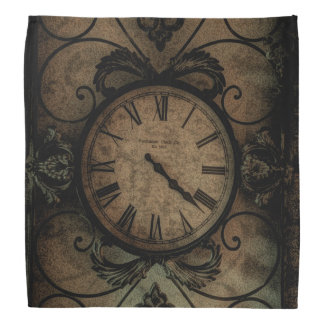 Vintage Gothic Antique Wall Clock Steampunk Bandana