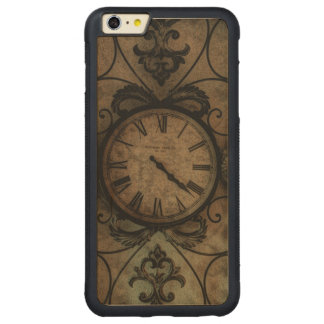 Vintage Gothic Antique Wall Clock Steampunk Carved Maple iPhone 6 Plus Bumper Case