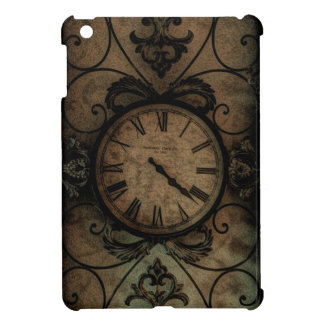 Vintage Gothic Antique Wall Clock Steampunk Cover For The iPad Mini