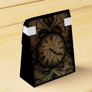 Vintage Gothic Antique Wall Clock Steampunk Favour Box