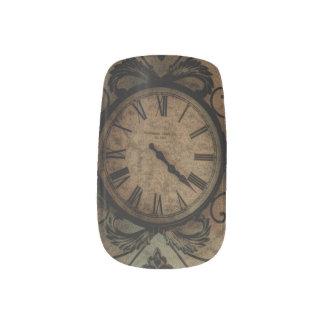 Vintage Gothic Antique Wall Clock Steampunk Minx Nail Art