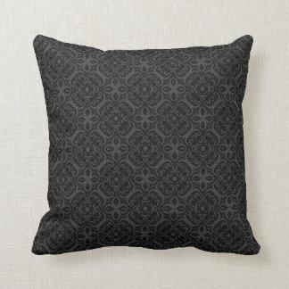 Vintage Gothic Damask Throw Pillow