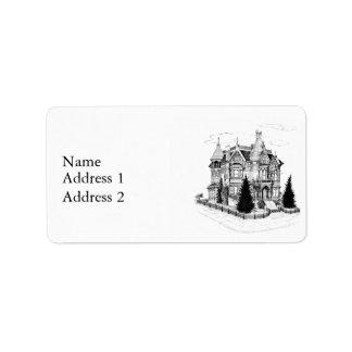 Vintage Gothic Home 1885 Label
