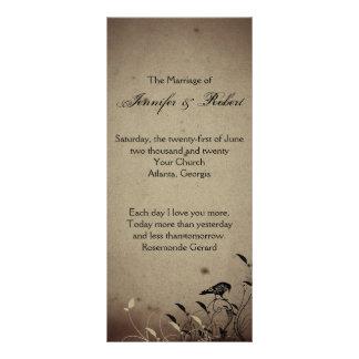 Vintage Gothic House Wedding Program Rack Cards