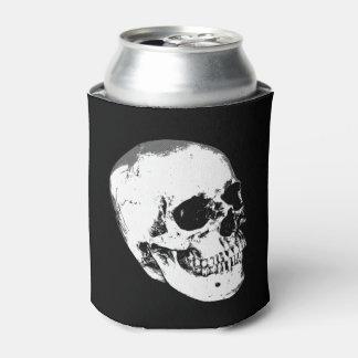 Vintage Gothic Skull Can Cooler