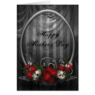 Vintage Gothic Skulls Roses Mother s Day Cards