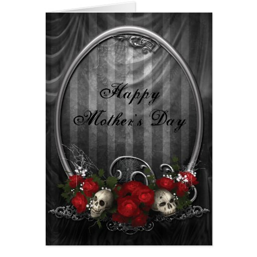 Vintage Gothic Skulls & Roses Mother's Day Cards