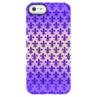Vintage gradient blue fleur de lis pattern permafrost® iPhone SE/5/5s case