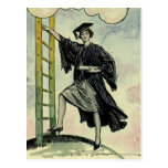 Vintage Graduation, Climbing the Corporate Ladder Postcard