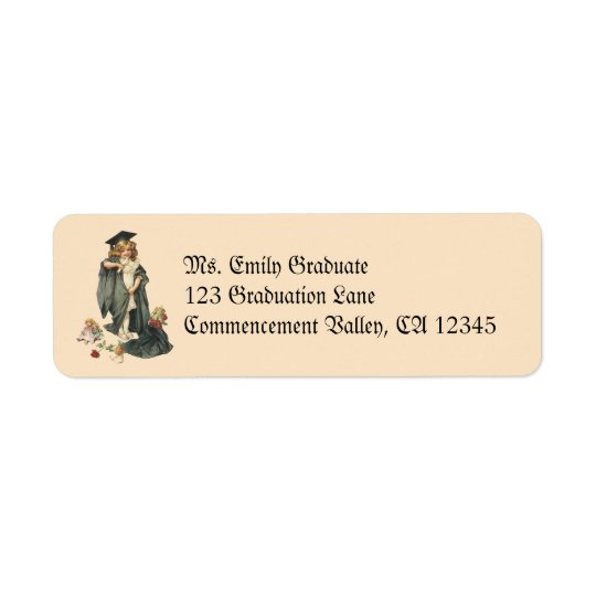 Vintage Graduation, Congratulations Graduates! Return Address Label