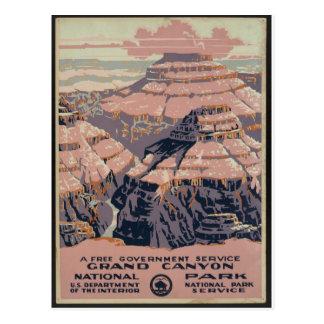 Vintage Grand Canyon art Postcard