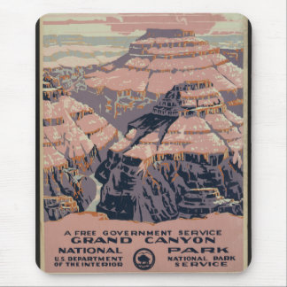 Vintage Grand Canyon Travel Poster Art Mouse Pad