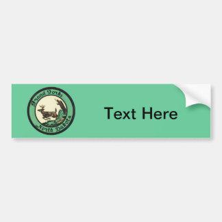 Vintage Grand Forks North Dakota Bumper Sticker