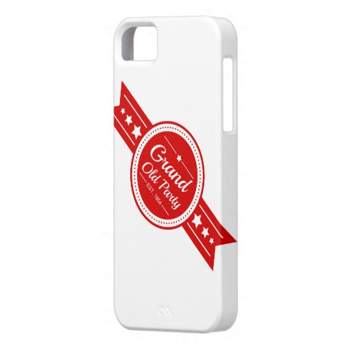 "Vintage ""Grand Old Party"" Republican iPhone Case Cover For iPhone 5/5S"