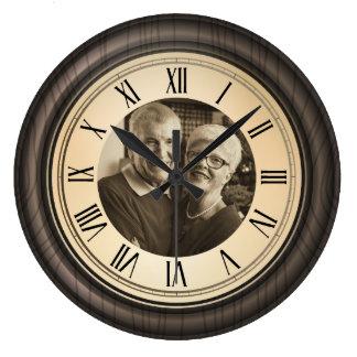 vintage grand parents roman numerals wall clock