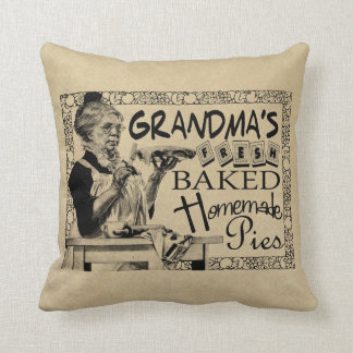 Vintage Grandma's Homemade Pies Gifts Cushion