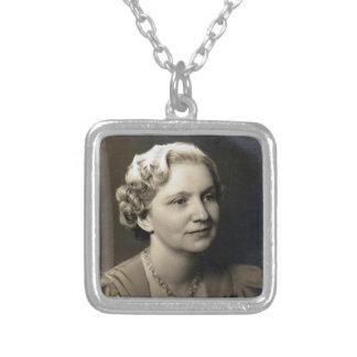 Vintage Grandmother Square Pendant Necklace
