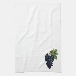 Vintage Grape Cluster Illustration Tea Towel