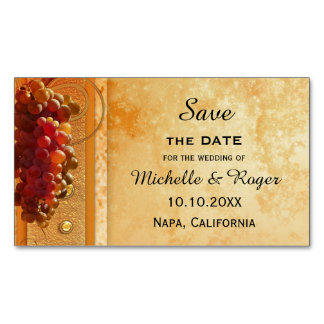 Vintage Grapes Magnetic Save the Date Card