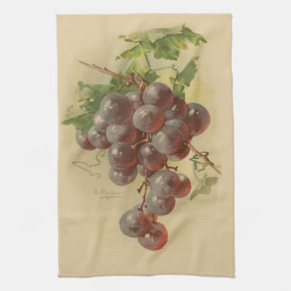 Vintage grapes tea towel
