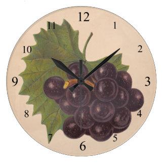 Vintage Grapes Wall Clock