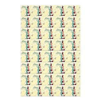 Vintage Graphic Art Marble Texture Pattern Flyer