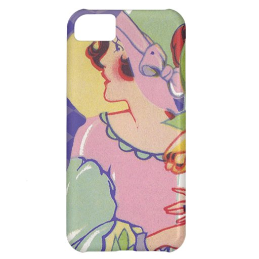 Vintage Graphics, Flapper holding flowers 1920s iPhone 5C Cases