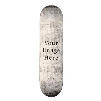 Vintage Gray Black Script Text Parchment Paper Skate Decks