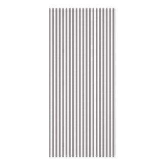 Vintage Gray White Chic Stripes Pattern Custom Rack Card