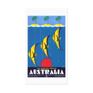 Vintage Great Barrier Reef Australia Travel Canvas Print