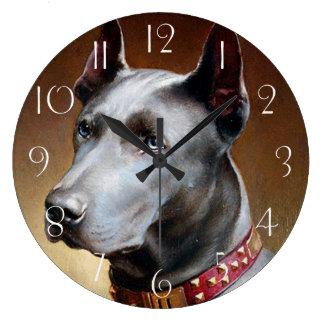 Vintage Great Dane Dog Large Clock