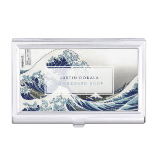 vintage, Great Wave, Hokusai 葛飾北斎の神奈川沖浪 Business Card Holder