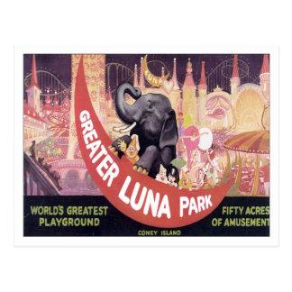 Vintage Greater Luna Park Postcard