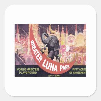 Vintage Greater Luna Park Square Sticker