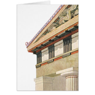 Vintage Greek Architecture, Temple of Athena Greeting Card
