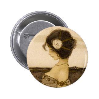 Vintage Greek Virgin Button