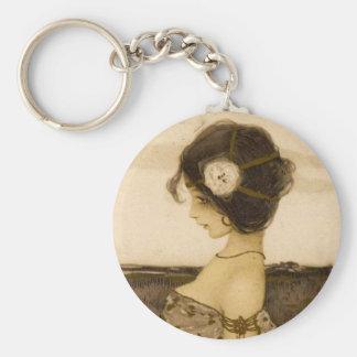 Vintage Greek Virgin Key Chain