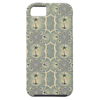 Vintage Green Abstract Flower Design iPhone 5 Covers
