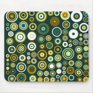 Vintage Green and White Fifties Abstract Art Mouse Pad