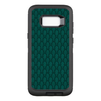 Vintage Green Baroque Floral Wallpaper OtterBox Defender Samsung Galaxy S8+ Case