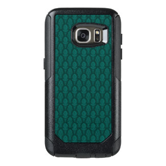 Vintage Green Baroque Floral Wallpaper OtterBox Samsung Galaxy S7 Case