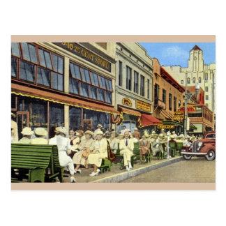 Vintage Green Benches St. Petersburg Postcard