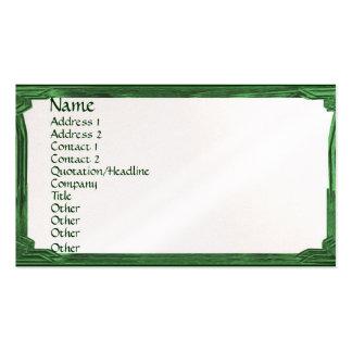 Vintage Green Border Frame Pack Of Standard Business Cards