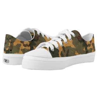 Vintage green Camouflage... Printed Shoes